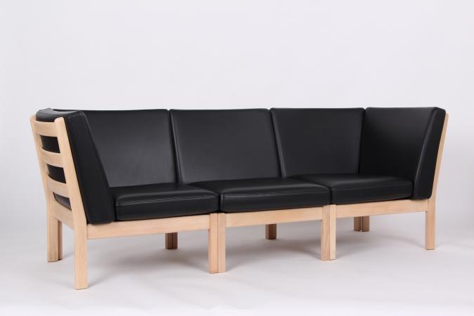 Groovy GE280 modulsofa. 3 pers. med sort læder. LG27