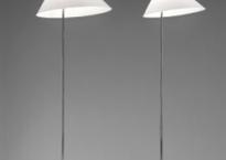 Gulvlampe hvid/krom Maxi G004H