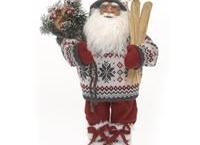 Julemand med ski.