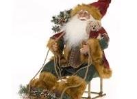 Julemand med kane - LED lys