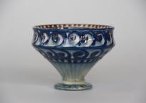 Brugt Kähler blå vase.
